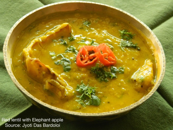 Red Lentil with Elephant Apple