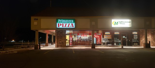 Take Out Review- Primavera Pizza