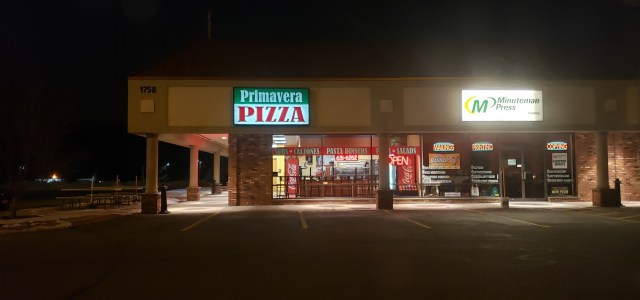 Take Out Review- Primavera Pizza