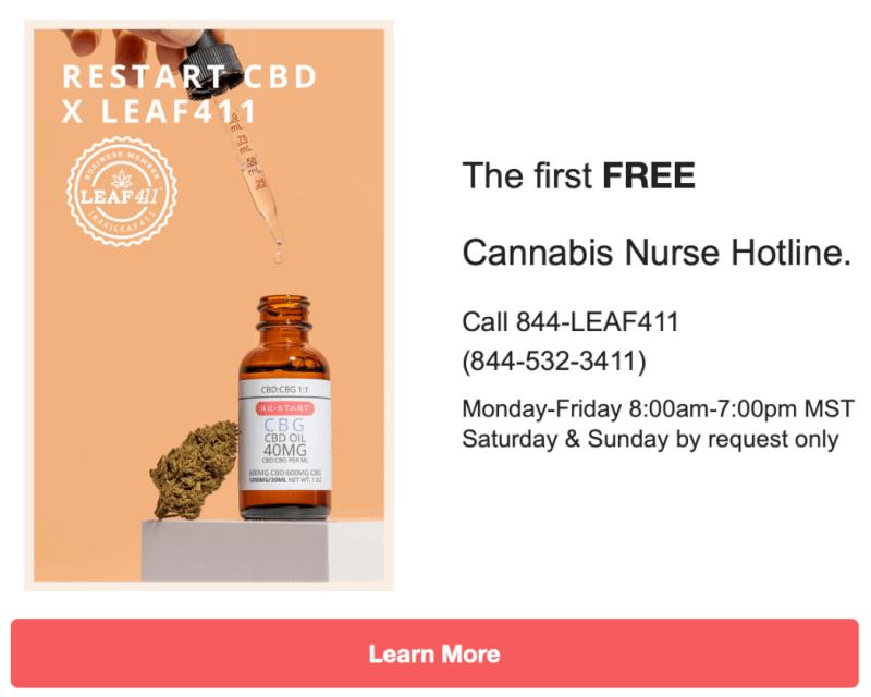 RESTART CBD Nurse Hotline