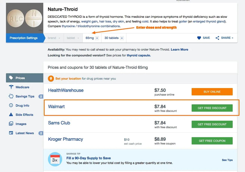 Naturethroid discount on goodrx