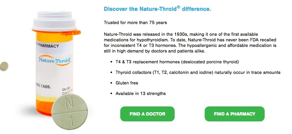 Naturethroid stats