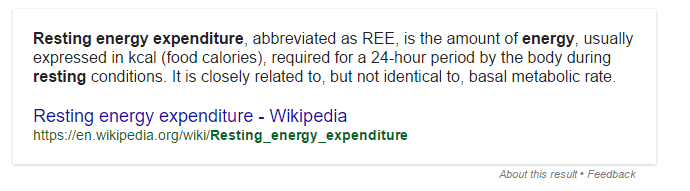 resting energy expenditure definition