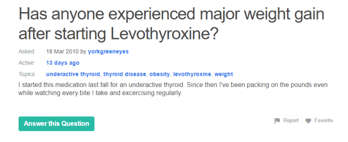 weight loss due to thyroid medication