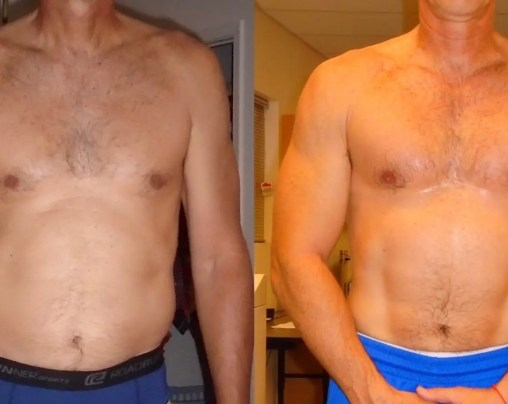 Dave before after testosterone chest