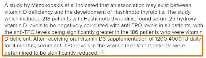 vitamin D and autoimmune thyroiditis