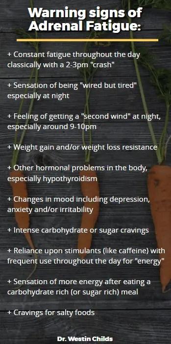 warning signs of adrenal fatigue