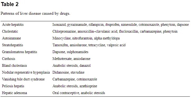 medications that cause liver damage