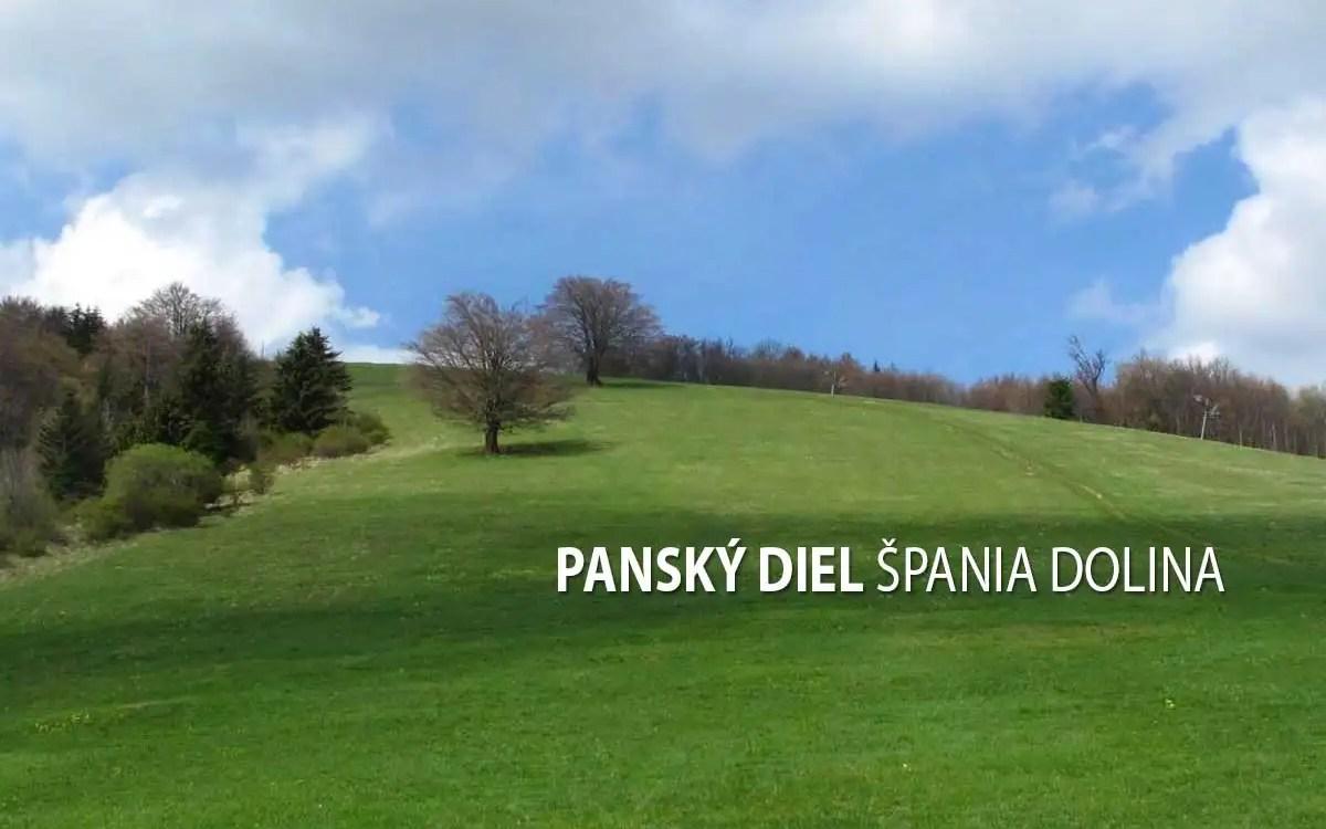 Panský diel - turistické trasy/ cyklotrasy