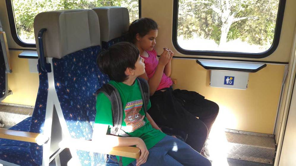 Na vlaku zo Zvolena