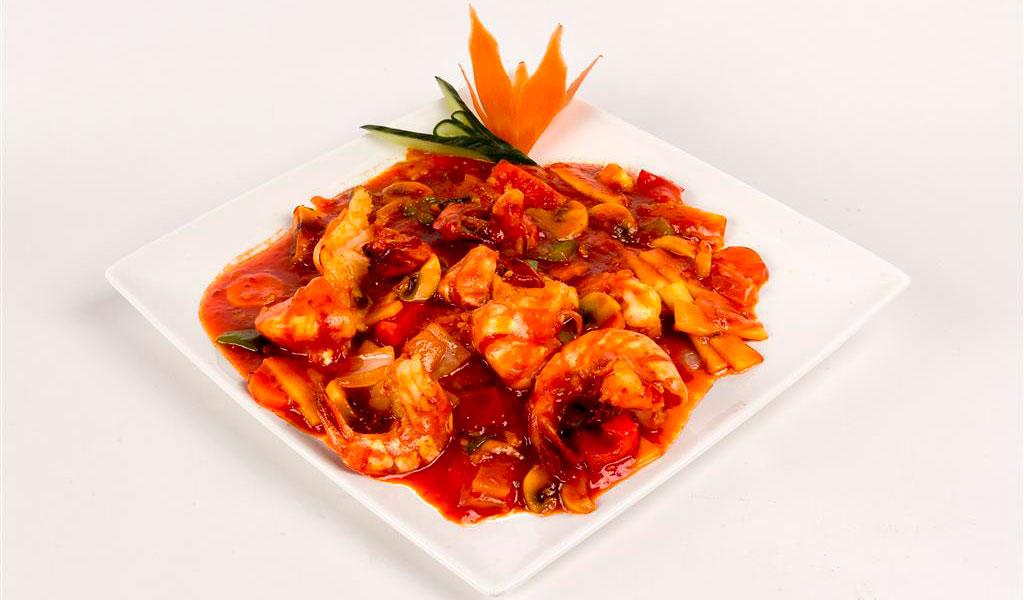 Langoustines ming ha in pikante tomatensaus nr40