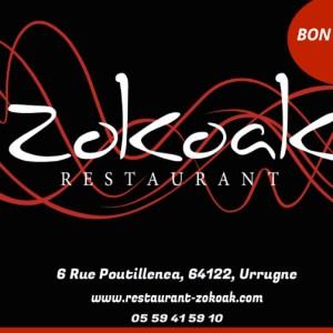 Cartes Cadeaux - Produits BAsques - Socoa - Urrugne - Restaurant Zokoak