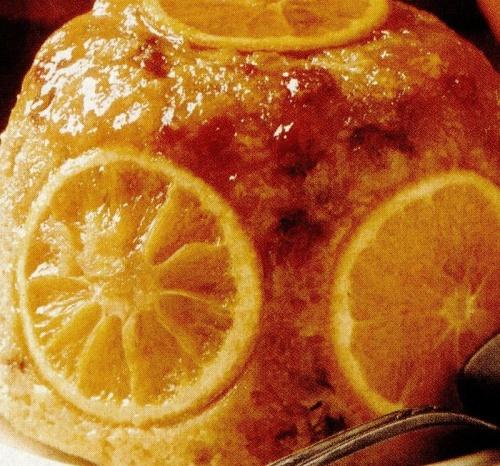 Budinca de portocale si sodou de vanilie