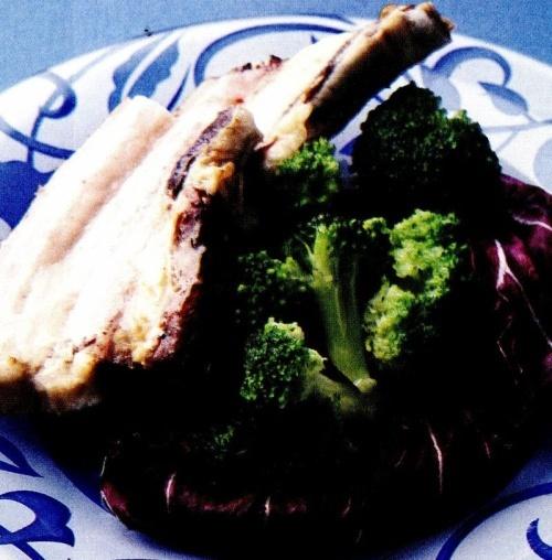 Costiţă de porc cu broccoli