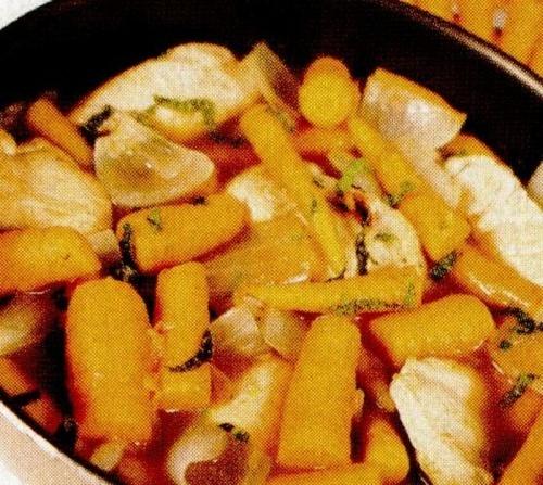 Mancare de morcovi cu pui