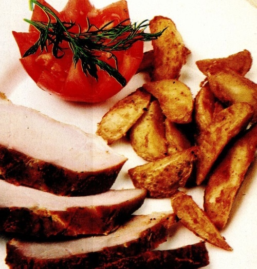 Muşchi de porc cu cartofi