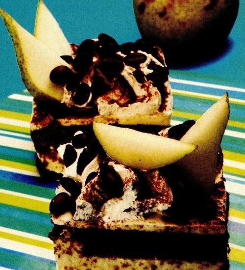 Prăjitură cu ciocolată şi pere