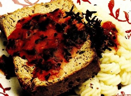 Terină cu piure şi sos tomat