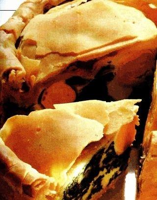 Tort cu spanac, parmezan si ricotta