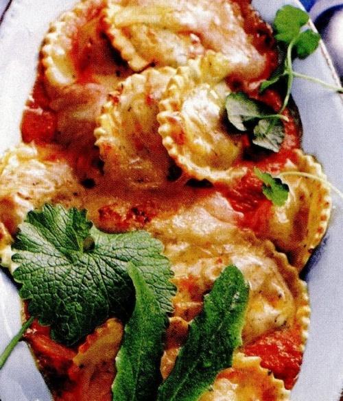 Tortelloni cu verdeaţă