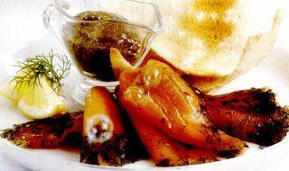 Somon marinat cu sos de muştar
