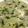 Supă cremă de pasare si ciuperci
