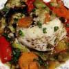 Peşte cu legume de vară