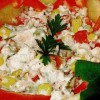 Salată exotica cu pastrăv crud si afumat