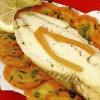 Peşte rasol cu garnitură de legume si sos de morcovi