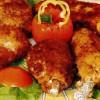 Pulpe de pui invelite in piure de cartofi