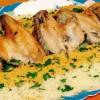 Cuşcuş cu aripioare şi sos de legume