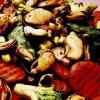 Mâncare de legume cu scoici