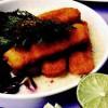 Crochete de peşte cu sos de iaurt