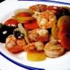 Salată de crevete şi legume