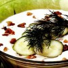 Supă de iaurt cu castravete si nuci