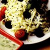 Tăiţei cu sos de ceapă verde