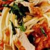 Spaghete cu ton si sos tomat