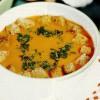 Supă cremă de usturoi cu roşii