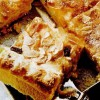 Prăjitură cu vanilie, branza de vaci si stafide