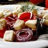 Salata de roşii cu telemea prăjită