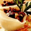 Melcişori cu ciuperci şi flori de dovleac