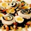 Rulouri din peste, cu salată de săricică şi ouă de prepeliţă