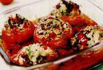 Rosii umplute cu ciuperci si orez