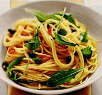 Spaghete picante cu ruccola