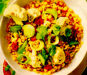 Curry cu linte si conopida