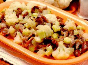 Măruntaie de pui cu legume