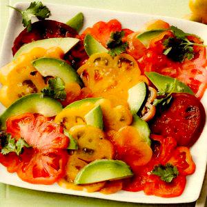 Salată Sashimi de roşii si avocado