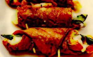 Muschi de vitel cu mozzarella