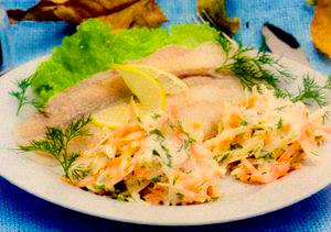 Peste cu salata