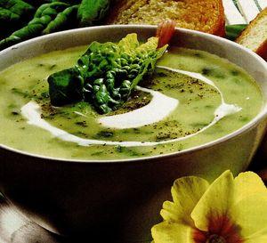 Supa-crema de spanac si salata verde